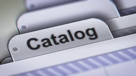 "gerarchia : ""Catalogo"" sul file. Filmati Stock"