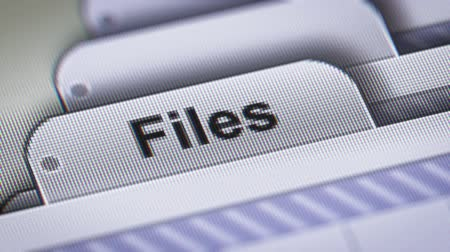 hierarchy : Files on The File. Stock Footage