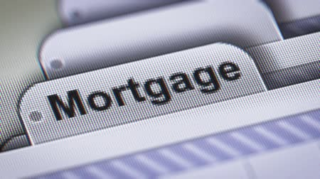 ипотека : Mortgage on The File. Стоковые видеозаписи