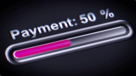 cheque : Process of Payment on a screen. Stock Footage