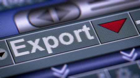 exportação : The Index of Export on The Screen. Down. Looping.