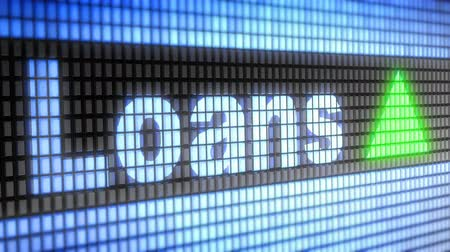 derivatives : Index of Loans on the screen. Up. 4K resolution. Looping. Stock Footage