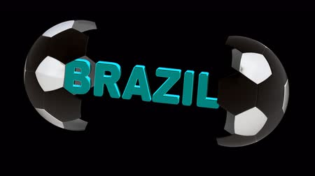 jogador de futebol : Brazil. Looping footage with Encoder Prores 4444 has 4K Resolution and the alpha channel included.