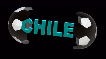 futball : Chile. Looping footage with Encoder Prores 4444 has 4K Resolution and the alpha channel included.