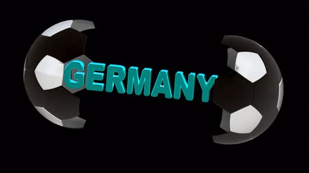 jogador de futebol : Germany. Looping footage with Encoder Prores 4444 has 4K Resolution and the alpha channel included.