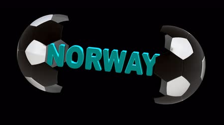 piłka : Norway. Looping footage with Encoder Prores 4444 has 4K Resolution and the alpha channel included.