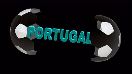 piłka : Portugal. Looping footage with Encoder Prores 4444 has 4K Resolution and the alpha channel included.