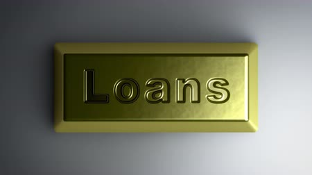 derivatives : Loans on the gold bullion. Looping footage with Encoder Prores 4444 has 4K Resolution. Stock Footage