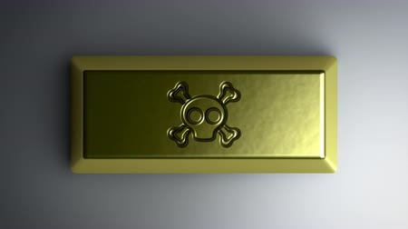 roger : Roger icon on gold bullion. Looping footage with 4k resolution and encoder Prores 4444.