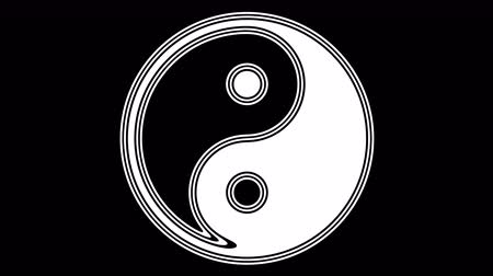 yin and yang : Ying-Yang. Looping footage has 4K resolution. Encoder Prores 4444.