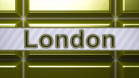 londyn : London. Looping footage has 4K resolution. Encoder Prores 4444.