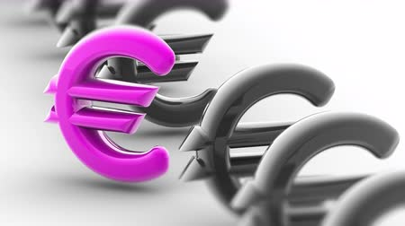 eur : Euro icon. Looping footage has 4K resolution. Encoder Prores 4444.