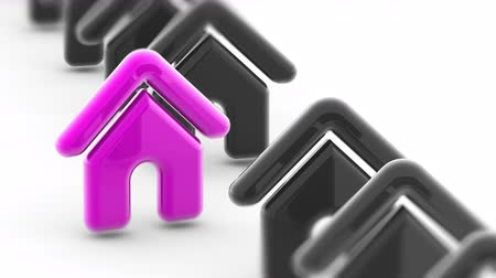 url : House icon. Looping footage has 4K resolution and encoder Prores 4444. Stock Footage