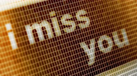 memorando : I miss you on the Screen. 4K Resolution. Encoder Prores 4444. Great Quality. Looping.