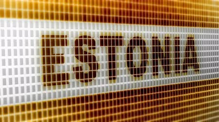 estonsko : Estonia on the Screen. 4K Resolution. Encoder Prores 4444. Great Quality. Looping.