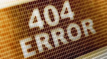 восклицание : 404 ERROR on the Screen. 4K Resolution. Encoder Prores 4444. Great Quality. Looping. Стоковые видеозаписи