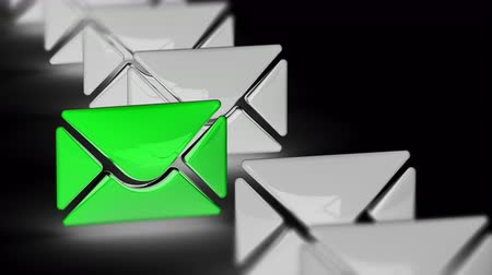 skrzynka pocztowa : The e-mail icon. Looping footage has 4K resolution. Prores 4444. 3D Illustration.