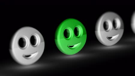 żart : The smile icon. Looping footage has 4K resolution. Prores 4444. 3D Illustration.