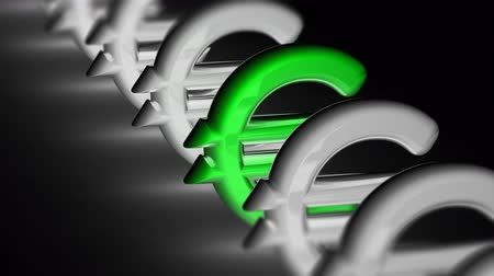 eur : The euro icon. Looping footage has 4K resolution. Prores 4444. 3D Illustration. Dostupné videozáznamy
