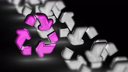 értesítés : The recycle icon. Looping footage has 4K resolution. Prores 4444. 3D Illustration.