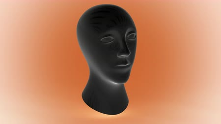 gizemli : The head. Looping footage has 4K resolution. Prores 4444. 3D Illustration. Stok Video