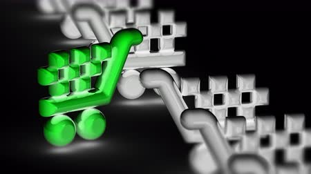 trolley : The sale icon. Looping footage has 4K resolution. Prores 4444. 3D Illustration.