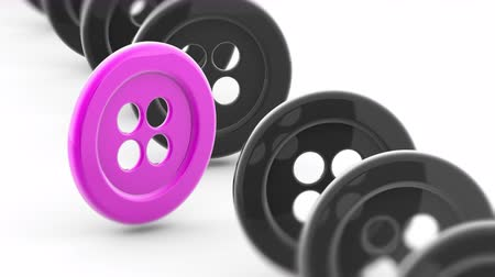 kivéve : The button. Looping footage has 4K resolution. Prores 4444. 3D Illustration. Stock mozgókép
