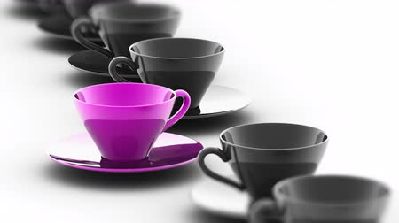 attainment : The coffee cup. Looping footage has 4K resolution. Prores 4444. 3D Illustration. Stock Footage