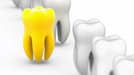 kivéve : The tooth. Looping footage has 4K resolution. Prores 4444. 3D Illustration.