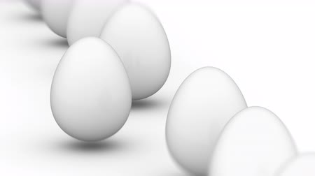 attainment : The egg. Looping footage has 4K resolution. Prores 4444. 3D Illustration.