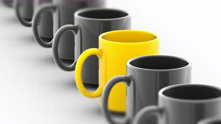 attainment : The mug. Looping footage has 4K resolution. Prores 4444. 3D Illustration.