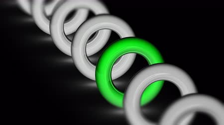 attainment : The ring. Looping footage has 4K resolution. Prores 4444. 3D Illustration.