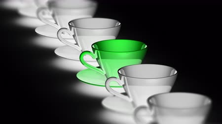 özlemlerini : The cup. Looping footage has 4K resolution. Prores 4444. 3D Illustration. Stok Video