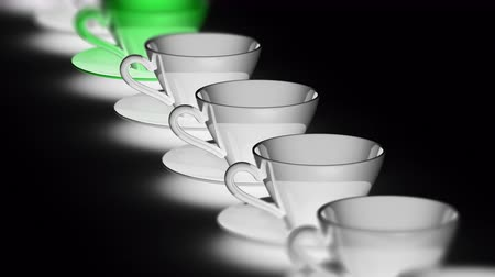 разница : The cup. Looping footage has 4K resolution. Prores 4444. 3D Illustration. Стоковые видеозаписи