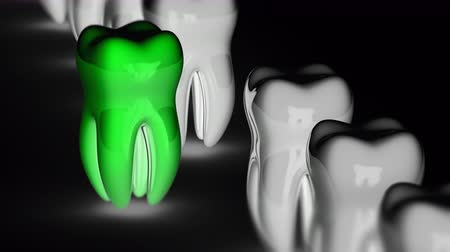 dent : The tooth. Looping footage has 4K resolution. Prores 4444.