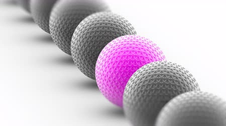 attainment : The Ball. Looping footage has 4K resolution. Prores 4444. 3D Illustration.