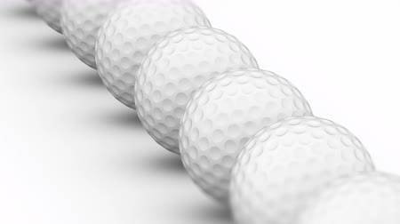 tek bir nesne : The golfball. Looping footage has 4K resolution. Prores 4444. 3D Illustration.