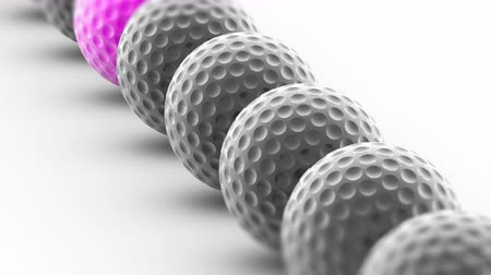 attainment : The golfball. Looping footage has 4K resolution. Prores 4444. 3D Illustration.