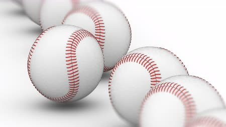 tek bir nesne : Baseballs. Looping footage has 4K resolution. Prores 4444. 3D Illustration.
