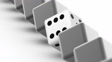 oportunidade : The dice. Looping footage has 4K resolution. Prores 4444. 3D Illustration. Stock Footage