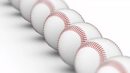 beisebol : Baseballs. Looping footage has 4K resolution. Prores 4444. 3D Illustration.