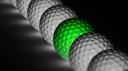 exclusivo : The golfball. Looping footage has 4K resolution. Prores 4444. 3D Illustration.