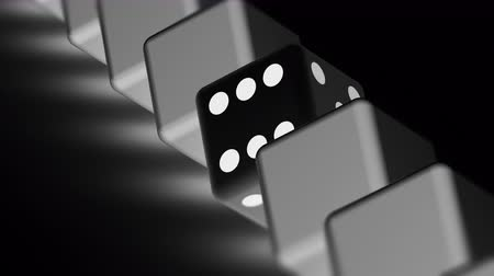 удачливый : The dice. Looping footage has 4K resolution. Prores 4444. 3D Illustration. Стоковые видеозаписи