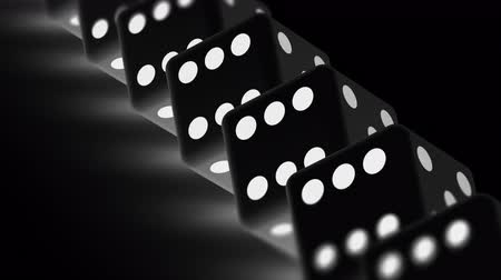morrer : The dice. Looping footage has 4K resolution. Prores 4444. 3D Illustration. Stock Footage