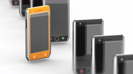 phablet : Smartphones. Looping footage has 4K resolution. Prores 4444. 3D Illustration. Stock Footage
