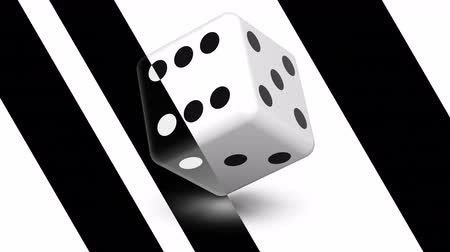 black and white : Dice. Looping footage has 4K resolution. Prores 4444. Stock Footage