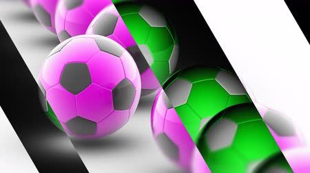 attainment : The Soccerball. Looping footage has 4K resolution. Prores 4444.