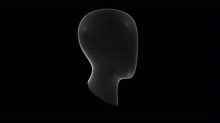 ware : The head. Looping footage has 4K resolution. Prores 4444.