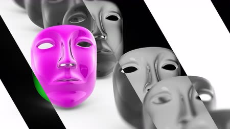 стремление : The mask. Looping footage has 4K resolution. Prores 4444. 3D Illustration.