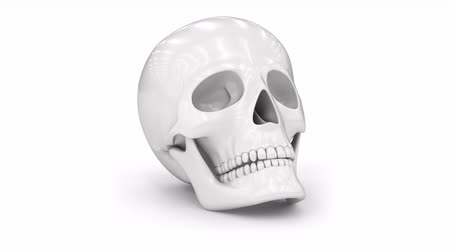 gerçeküstü : Skull. Looping footage has 4K resolution. Prores 4444. 3D Illustration. Stok Video